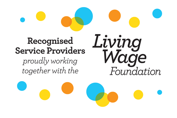 Living Wage Recognised Service Providers 600x400